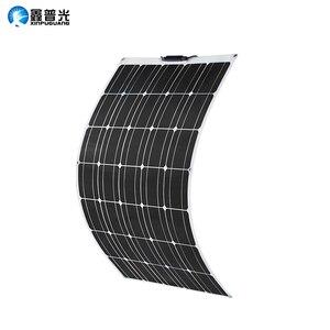 100 Вт солнечная панель 100 Вт 930*660*3 мм 17,6 в качество полу Гибкий монокристаллический фотоэлектрический модуль для 12В батареи RV яхты автомобил...