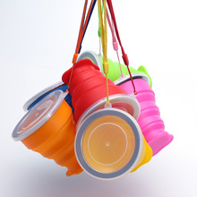 Reusable Silicone Folding Cup BPA free Collapsible Cup Portable Outdoor Sport Travel Coffee Cup Foldable Water Tea Cups цена
