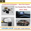 """Traseira do carro Da Câmera + 4.3 """"TFT LCD Monitor de Tela = 2 em 1 Sistema de Back Up Estacionamento Para Toyota Vios/Etios 2014 2015"""