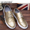 Men shoes 2017 New Fashion Brand shoes for men Casual shoes flat gold black silver shoes zy218