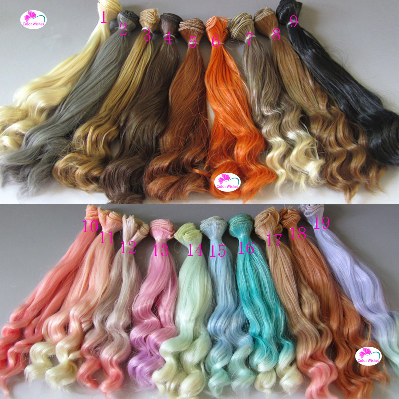 20cm*100cm Doll wig Large wave curls hair for 1/3 1/4 BJD/SD golden \ brown and other colors new 1 3 bjd wig short hair doll diy high temperature wire for 1 4 msd bjd sd dollfie