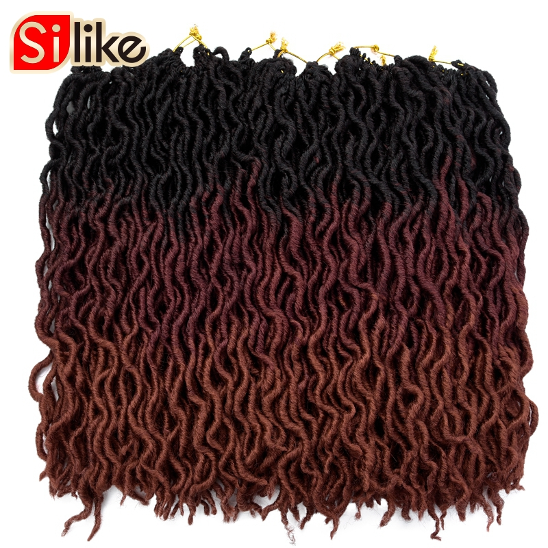 Goddess Faux Locs Wavy Crochet Braids 20 Inch Natural Synthetic Braiding Hair Extension 24 Stands/Pack Goddess Faux Locks Hair