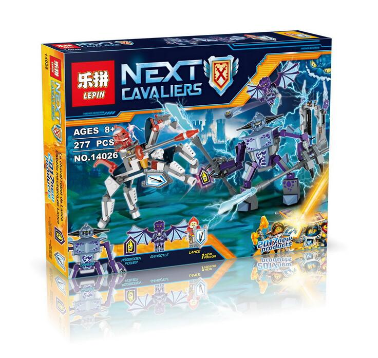 Lepin 14026 Nexus Knights Building Blocks set Lance vs. Lightening  Kids gift bricks toys compatible with 70359 P722 lepin 22001 pirate ship imperial warships model building block briks toys gift 1717pcs compatible legoed 10210