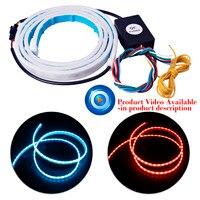 120cm Car Rear Trunk Lights 3 Color Tail Box Light Dynamic Streamer Brake Turn Signal Warning