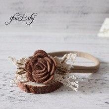 Женская повязка на голову с цветком для девочек; повязка на голову из фетра с цветком