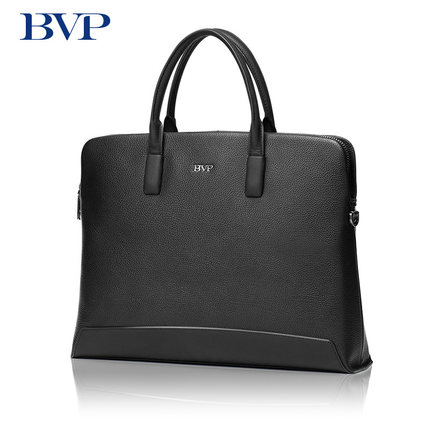 BVP Brand High Quality Genuine Leather Men Briefcase Laptop Messenger Bag Business Black Real Leather Zipper Male Bag Fashion 40 цена и фото