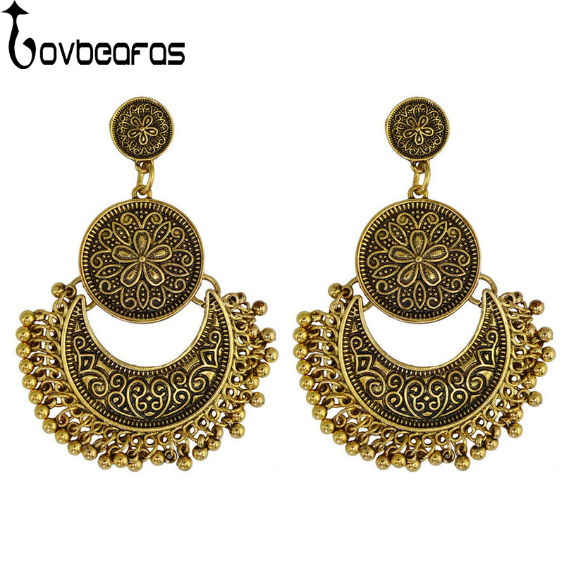 2018 India Jewelry Dubai Gold Jewelry Women Fashion: LOVBEAFAS 2018 Fashion Bohemian Drop Tassel Earrings For