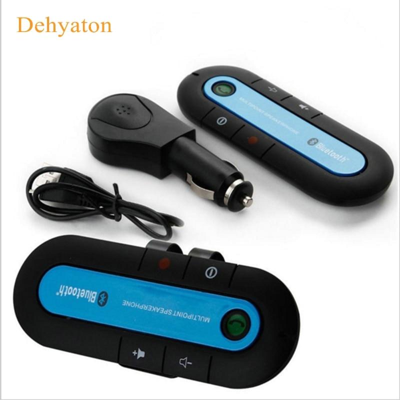 2018 Slim Bluetooth Car Kit Universal Wireless Multipoint Magnetic Hands Free Bluetooth Car Kit libre voiture Speaker Visor Clip