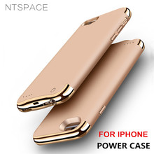 NTSPACE Backup Power Bank Pack For iPhone 8 7 6 6S Wireless Back Clip Battery Case For iPhone 6 6S 7 8 Plus Power Charger Cases стоимость