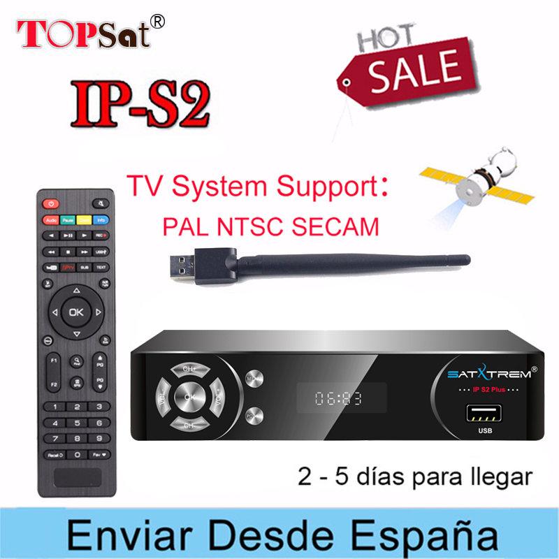 SATXTREM IPS2 PLUS Satellite TV Receiver Full HD receptor support Europe cccam cline for 1 year spain and europe IPTV Decoder