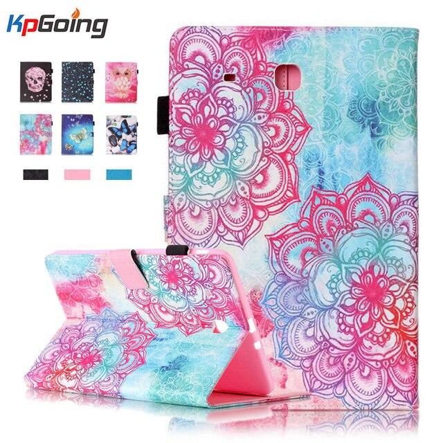 1для Samsung Galaxy Tab E 9.6 T560 T561 Мода Печати Tablet Luxury Кожа PU Case Флип Wallet Чехол для Galaxy Tab E 9.6 T560