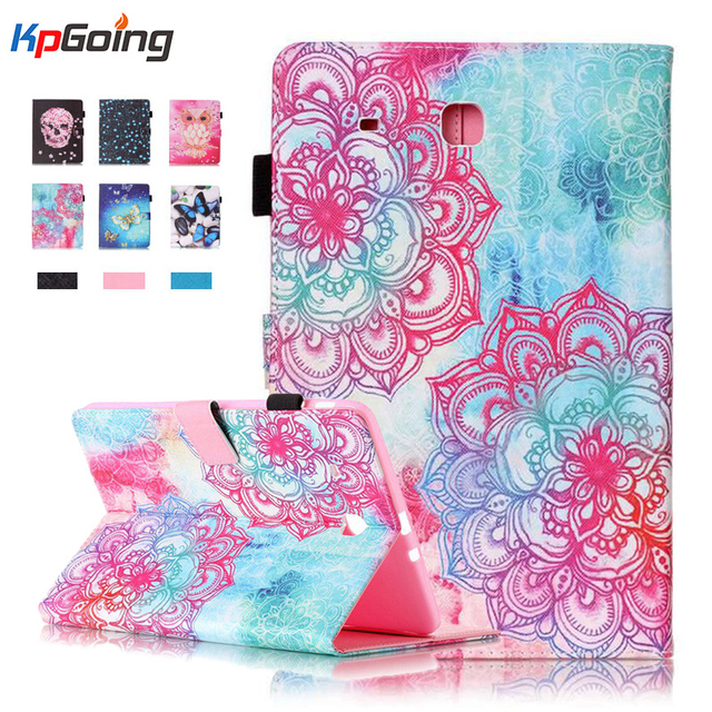 1for Samsung Galaxy Tab E 9.6 T560 T561 Fashion Print Tablet Luxury PU Leather Case Flip Wallet Cover for Galaxy Tab E 9.6 T560