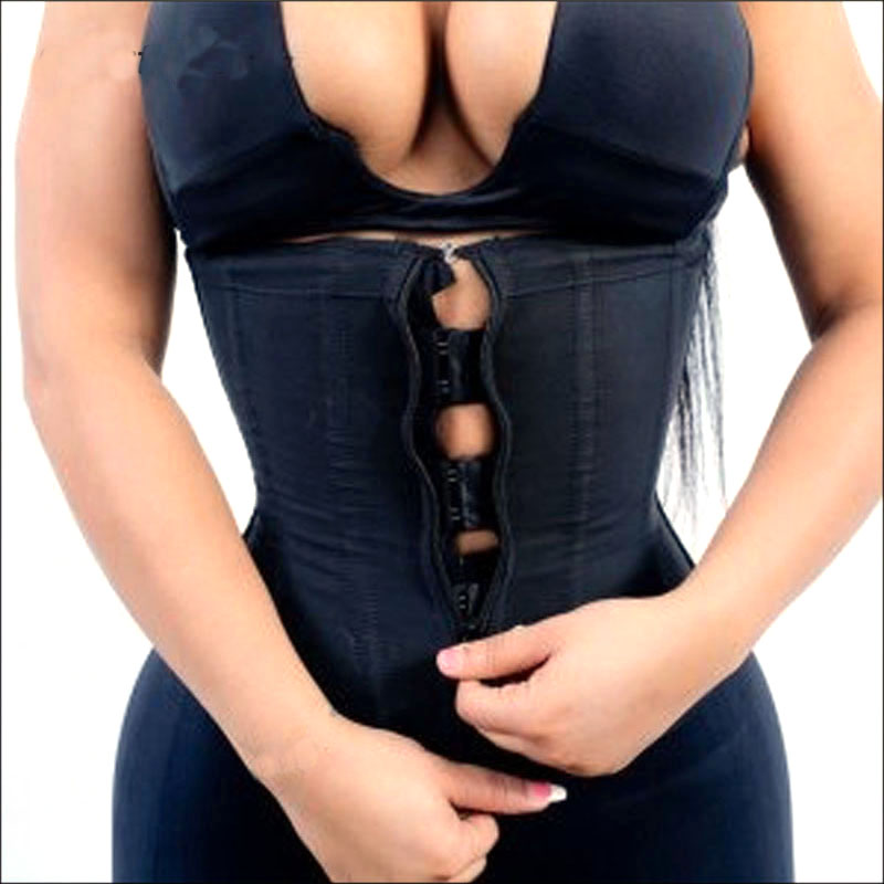 Corset Body Shaper Latex Waist Trainer Zipper Underbust Slim Tummy Waist Cincher Slimming Briefs Shaper Belt Shapewear Wanita