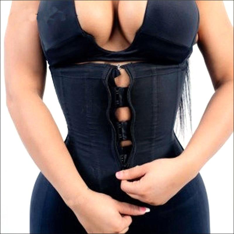Korsett Body Shaper Latex Taille Trainer Zipper Unterbrust Dünne Bauch Taille Cincher Abnehmen Briefs Former Gürtel Shapewear Frauen
