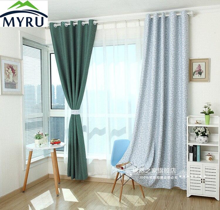 myru el nuevo estilo pastoral cortinas cortina cortina de tela blackout grado hojas de cortinas cortinas