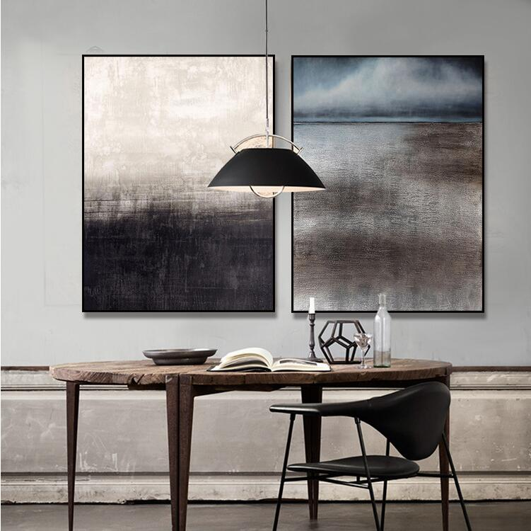 New FRAMED Black and White Modern Fine Art Abstract Wall Art Set HD Canvas Painting for Home Office Living room Wall Decoration