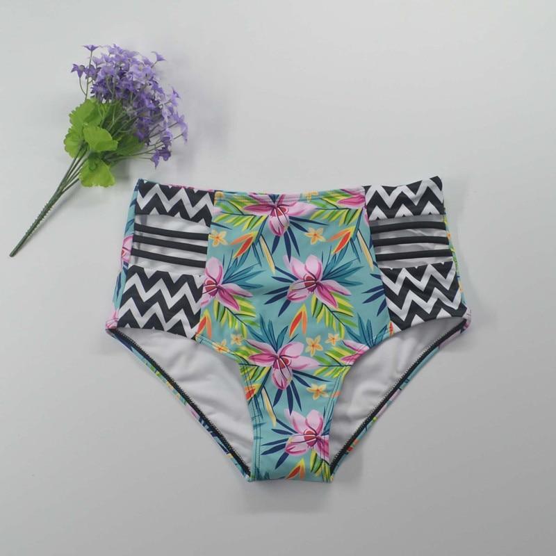 Bikinis 2018 yüksək belli üzgüçülük kostyumu push mayo - İdman geyimləri və aksesuarları - Fotoqrafiya 6