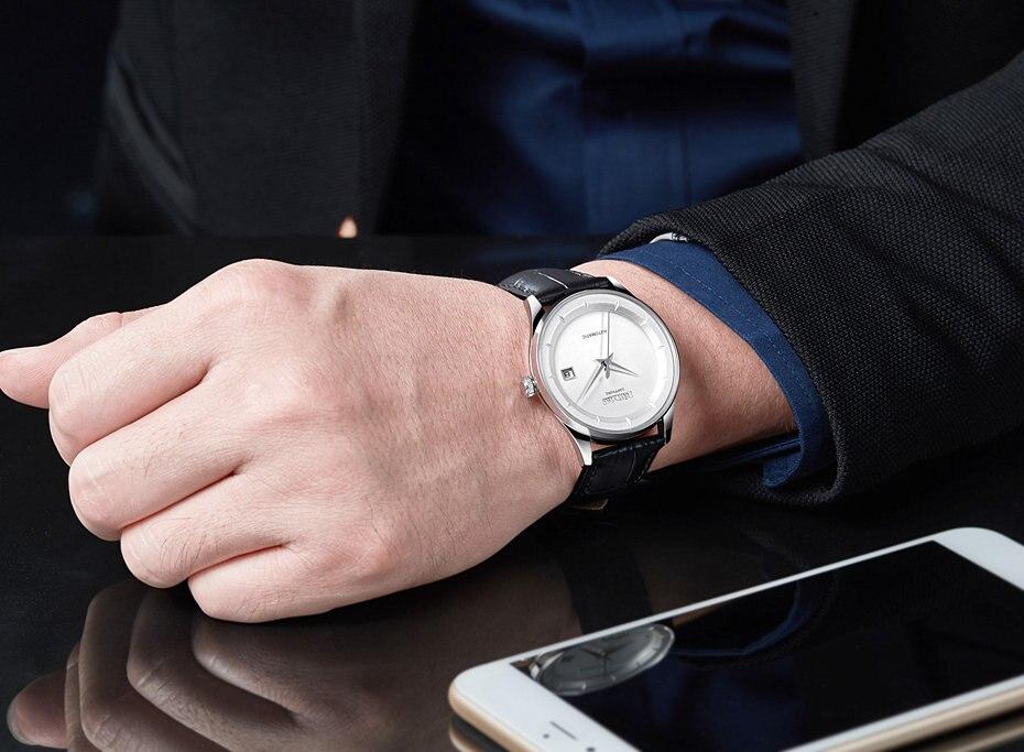 c6b9bda0dfe RUIMAS Homens Simples Relógio de Couro Clássico de Negócios de Moda ...