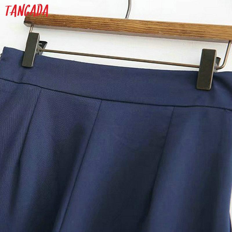 Tangada women elegant navy pants 19 ladies casual harem pants cotton cool korean fashion trousers mujer XD449 13