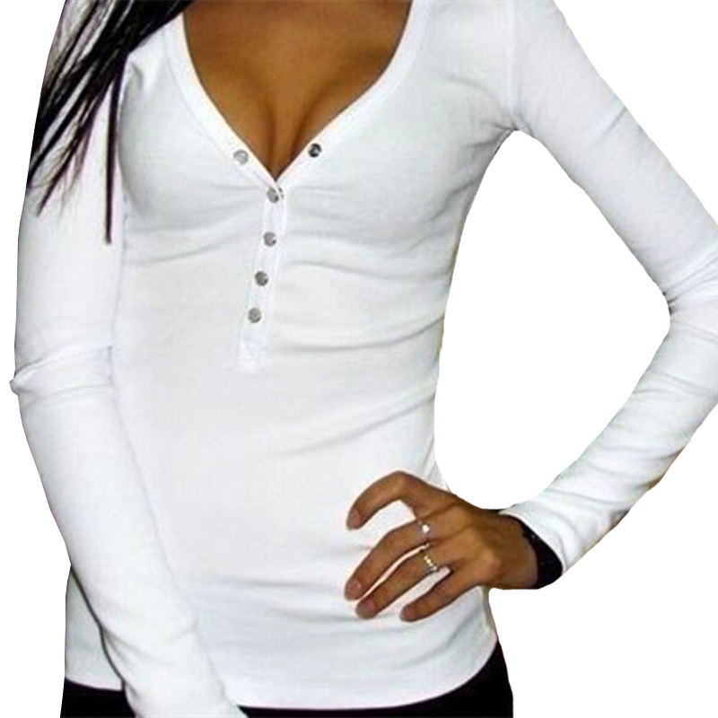 YRRETY T Shirt Women Autumn Top Shirts Long Sleeve Casual Tshirt V-neck Female T-Shirt Women's Tops Cotton Tee Shirt Femme S-XL