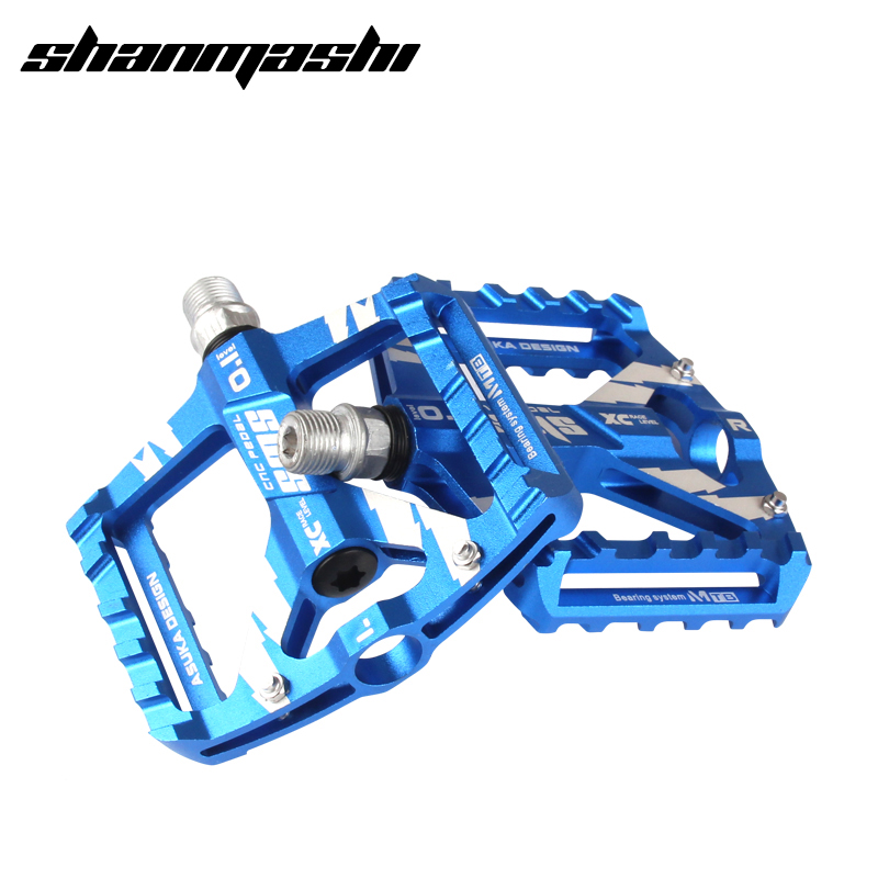 SMS Bicycle Pedal Aviation Aluminum Alloy Road Bike Pedals Ultralight MTB BMX DU Bearing Wide Bicycle Pedal Road Bike Parts wellgo aluminum mountain bike pedals double du bearing mtb bicycle pedals 112 9 111 3 21mm anodizing coloration cycling parts