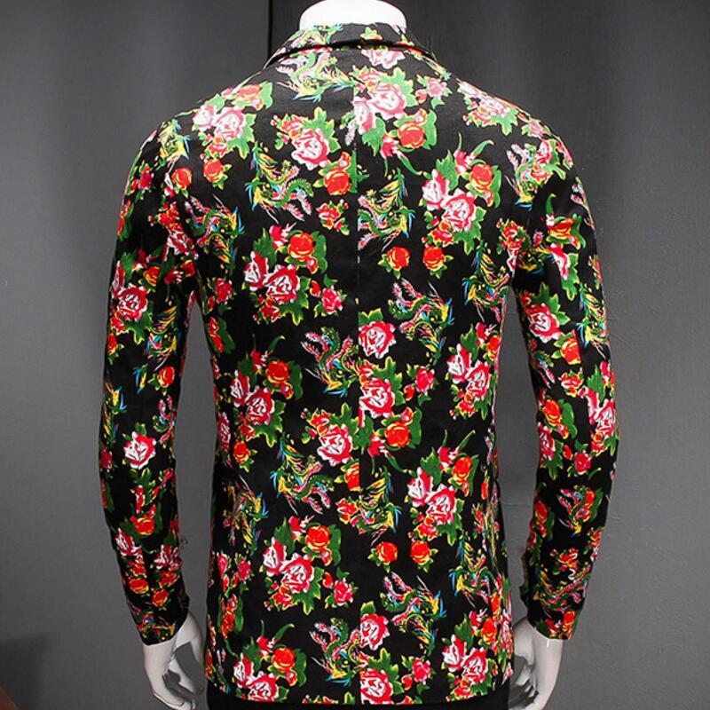 Mens Blazer Jacket Mens Korean Slim Fit Fashion Cotton Blazer Suit Jacketplus Size M Tomale Blazers Coat Wedding