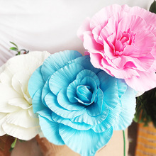 50cm diameter simulation foam peony flower head artificial wedding decoration fake foreign rose