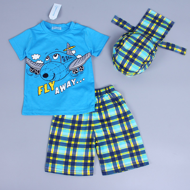 Bear-Leader-Active-boys-sets-boy-shorts-Cartoon-suits-summer-short-sleeve-T-shirt-plaid-pants-hat-3-pieces-clothing-set-5