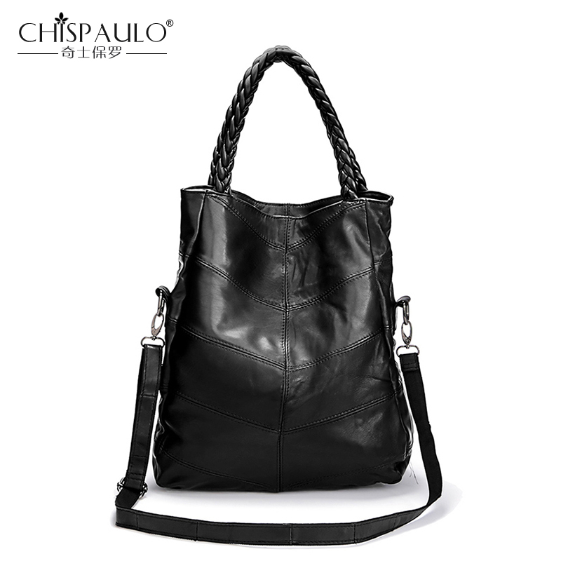 2018 Genuine Leather Women Bag High Quality Sheepskin Shoulder Bag Ladies Casual Tote Luxury Handbags Women