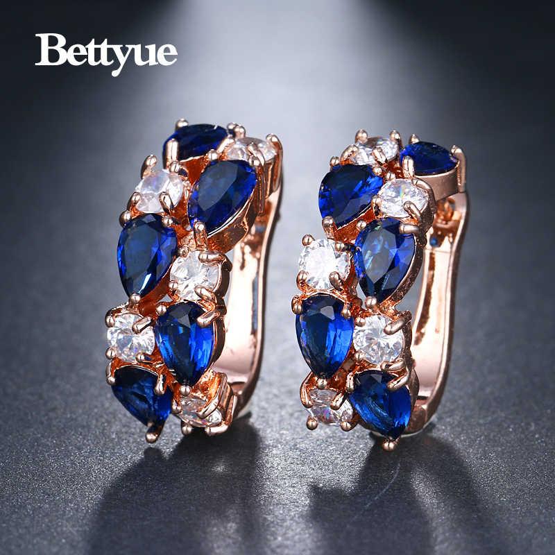 Bettyue брендовые модные очаровательные 13 цветов Monalisa серьги блестящие AAA циркониевые ослепительные ювелирные изделия для женщин вечеривечерние привлекательный подарок