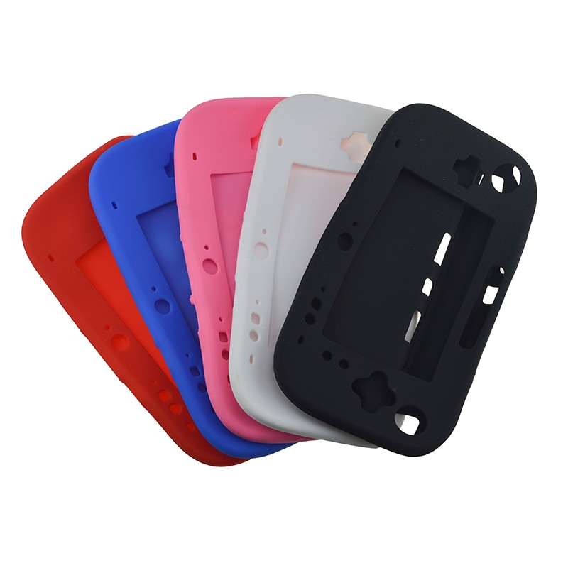 Soft Silicone Rubber Full Body Protector For Wii U Gel Case Cover Skin Shell For Nintendo WiiU Gamepad Controller 5 Colors Ultra