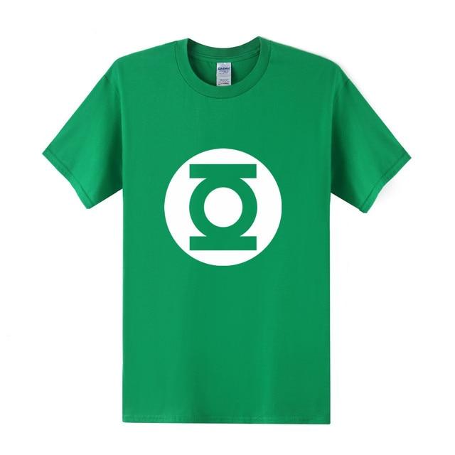 38b59815a42 2017 New Green Lantern t shirt Men The Big Bang Theory T-shirt Top Quality  Cotton Sheldon Cooper Super heroT Shirts Men OT-125