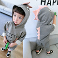 [Bosudhsou.] JH-36 ropa de Boy Sets Niños Patrón de Dibujos Animados Dinosaurio Ropa Camisetas de Los Niños + Pantalones de Los Chándales de Trajes Del Deporte