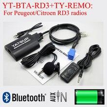 Yatour Bluetooth music play phone call hands free kit for Peugeot Citroen RD3 car radios