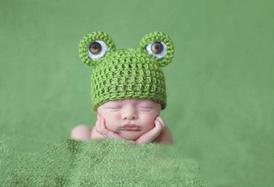 cc7af4513 Buy New Baby Boys Knitting Hat Kids Infant Winter Wool Cartoon Frog ...
