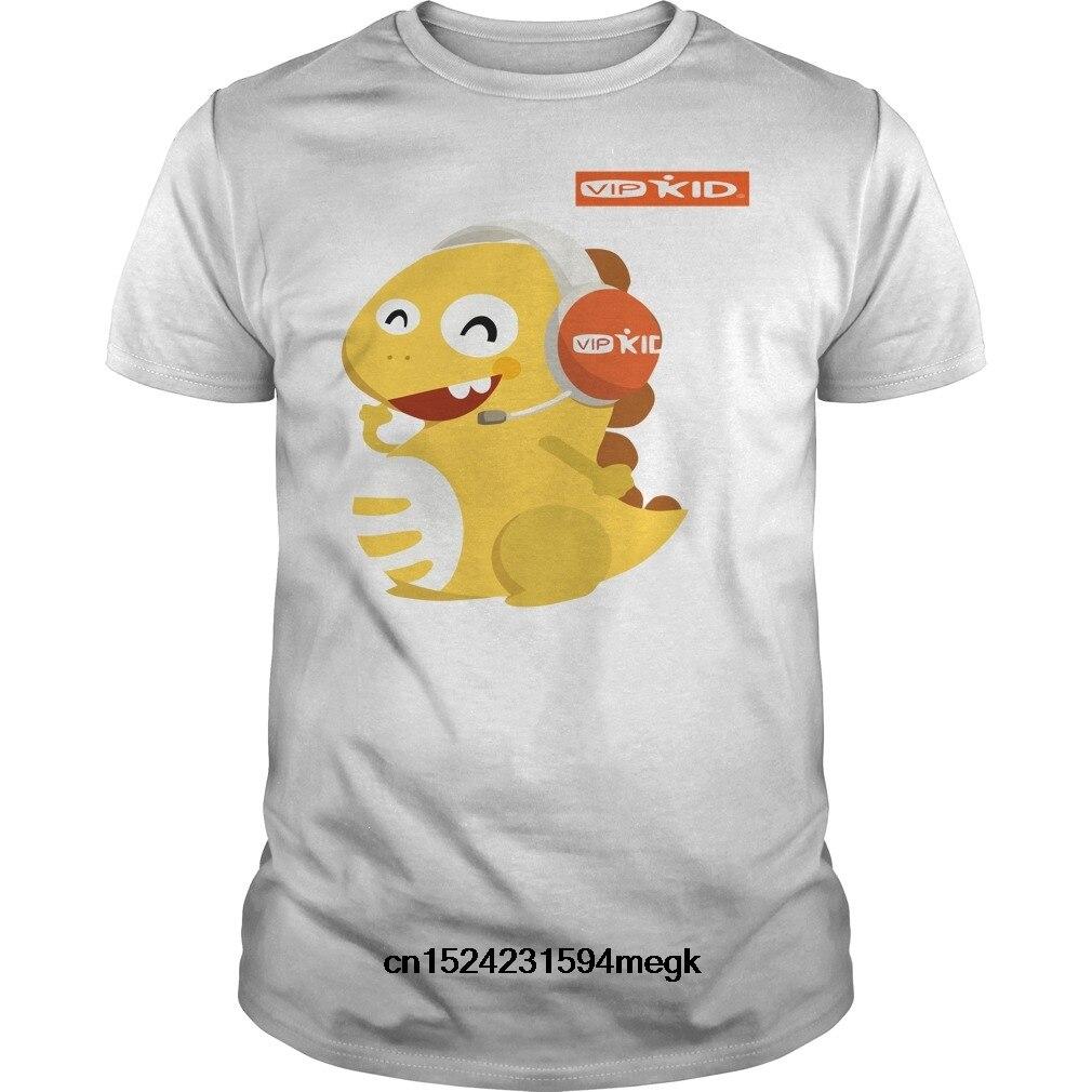 02f3dbba5f9 Funny Men t shirt Women novelty tshirt VIPKID Headset Dino TShirt cool T- Shirt