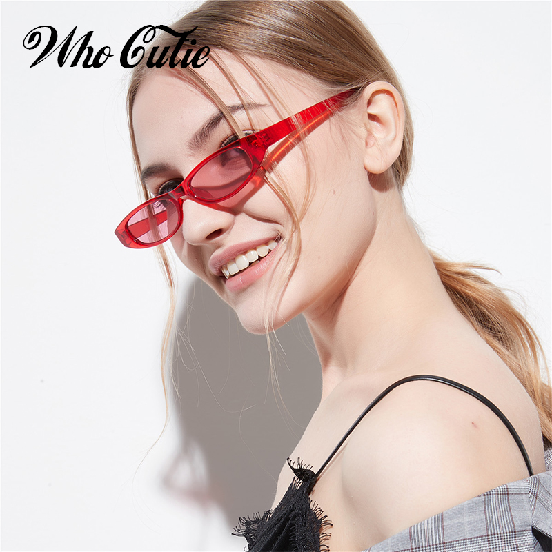 QUE GRACINHA Estreito Pequeno Retangular Óculos De Sol Das Mulheres  Designer de Marca Vintage Frame de 08a26afe5d
