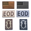 Usa American Flag Eod Tactical Us Army Morale Military Badge Patch Embroidered Patches Tactical Badges Fabric Armband Stickers