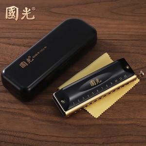 Image 4 - גואו גואנג כרומטית מפוחית 12 16 חורי נבל פה איבר מפתח C ABS מסרק זרחן ברונזה קני מקצועי כלי נגינה
