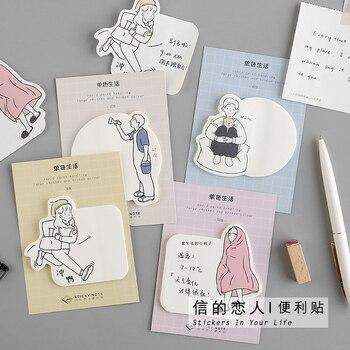 30 Copriletto/pad Piacevole Vacanza Sticky Note Book Kawaii Paper Memo Pad Planner Autoadesivo Messaggio Carino Ufficio di Cancelleria