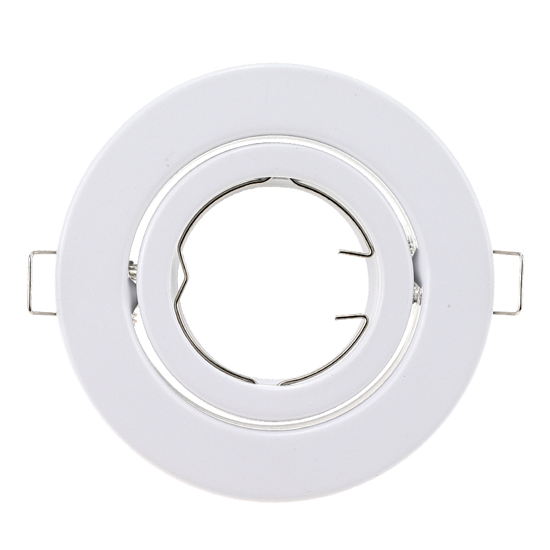 Modern White Recessed Spotlight Mounting Frame MR16 GU10 Socket Adjustable Ceiling Fitting Hole Lamp Lighting Fixture For Indoor