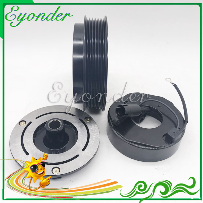 A C AC Air Conditioning Compressor Magnetic Electromagnetic Clutch Pulley set for Mercedes Benz VITO Bus