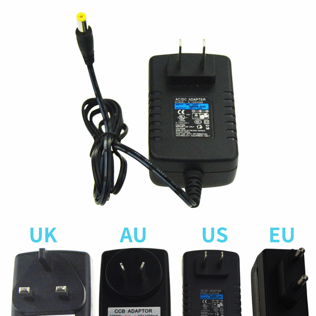 AC 100-240V DC Power Supply 12V 1.5A Adapter Charger LED Transformer