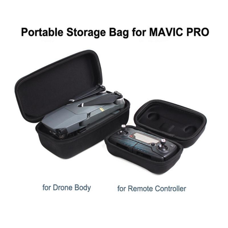 for DJI Mavic Pro Platinum Carrying Case Foldable Drone Body and Remote Controller Transmitter Bag Hardshell Housing Bag Storage