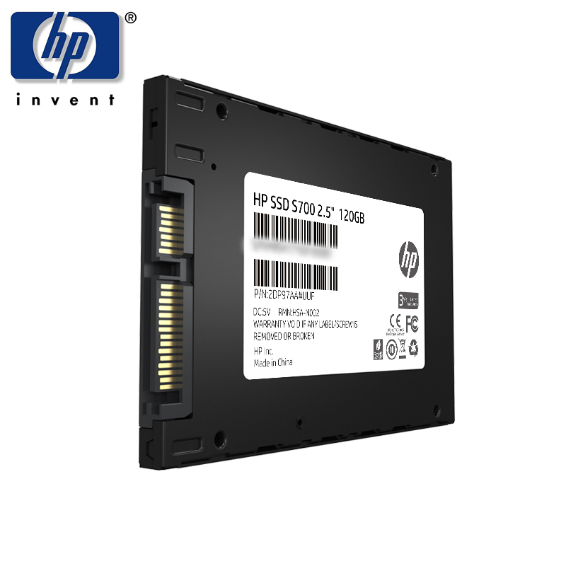 HP SSD 120GB Internal Solid State Disk Hard Drive SATAIII SATA 3 2.5 Inch 7mm Professional SSD for NoteBook Laptop Desktop PC 2 5 3 5 inch plastics hard disk drive mounting bracket adapter for notebook pc ssd holder qjy99