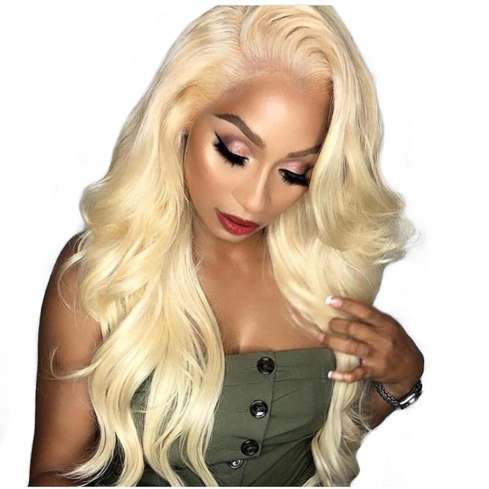 613 Blonde Lace Front Wig 360 Lace Frontal Wig Full End Body Wave Honey Blonde Colored Human Hair Wigs For Women Black Remy