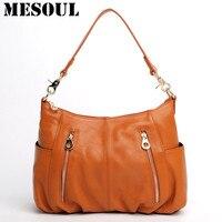 Fashion Style Genuine Leather Women Shoulder Bag Female Bag Casual Handbag Crossbody Messenger Bag Purses Ladies
