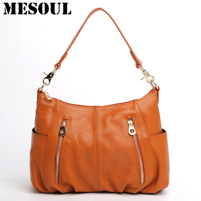 Fashion Style Genuine Leather Women Shoulder Bag Handbags Tote Female Bag Casual Crossbody Messenger Bag Purses Ladies Bags 2018 new style genuine leather woman handbag vintage metal ring cloe shoulder bag ladies casual tote fashion chain crossbody bag