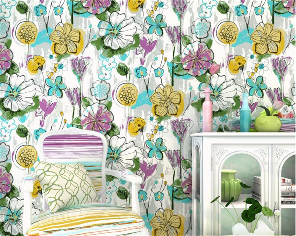 beibehang Pure paper wall paper Nordic lotus abstract sketch papel de parede wallpaper art background bedroom new Chinese style beibehang pure paper wall paper nordic lotus abstract sketch papel de parede wallpaper art background bedroom new chinese style