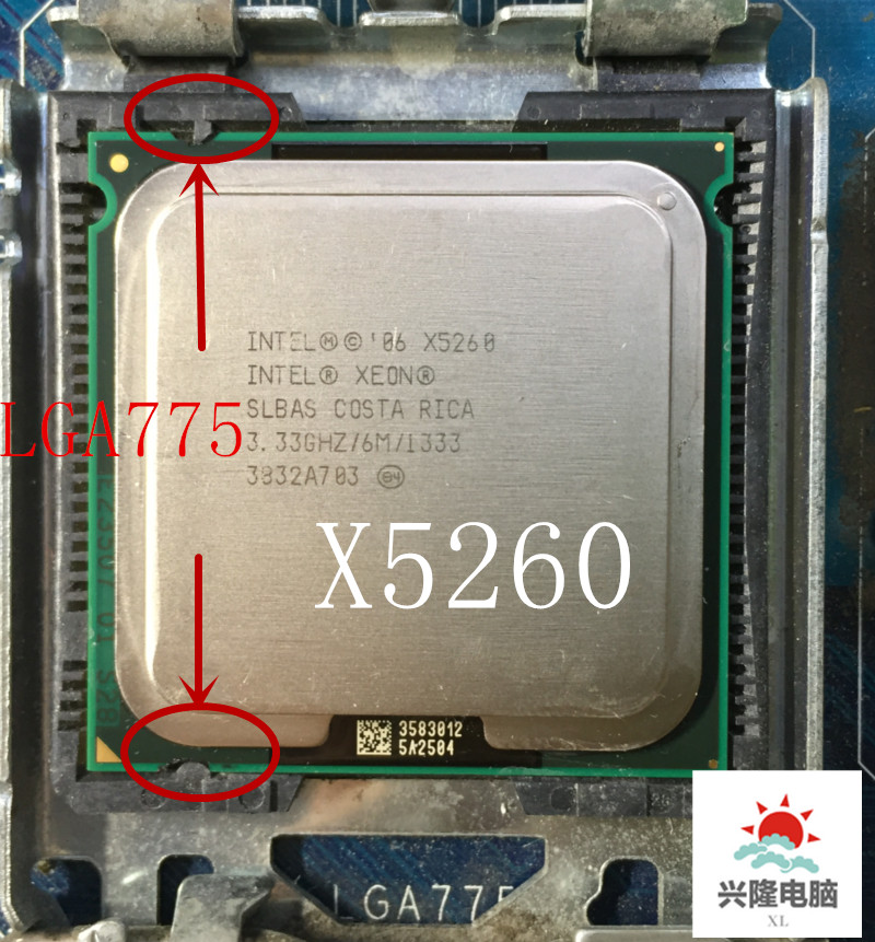 For Intel Xeon X5260 Processor(3.33GHz/6MB/1333MHZ )close To LGA775 Core 2 Cpuworks On LGA 775  Mainboard No Need Adapter